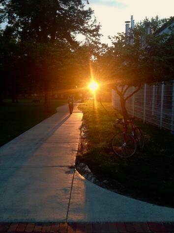 Sunset on Truman's campus